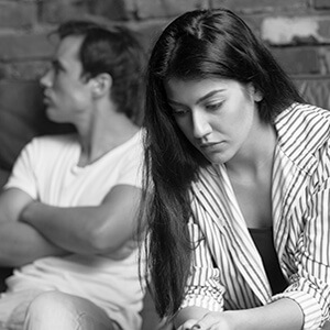 Couple Thinking About Separating